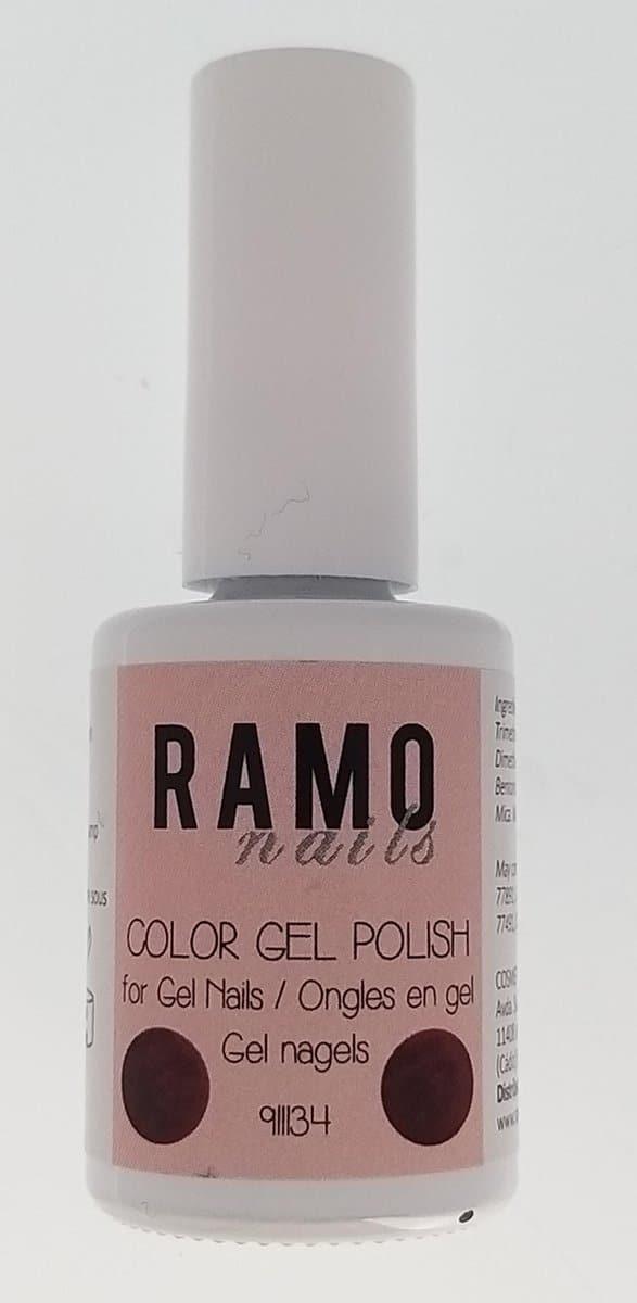 Ramo gelpolish 911134-gel nagellak-gelpolish-gellak-uv≤d-15ml-soak off-metallic-donker rood