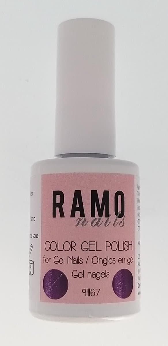 Ramo gelpolish 911167-gel nagellak-gelpolish-gellak-15ml-uv≤d-soak off-semi transparant -glitter-paars