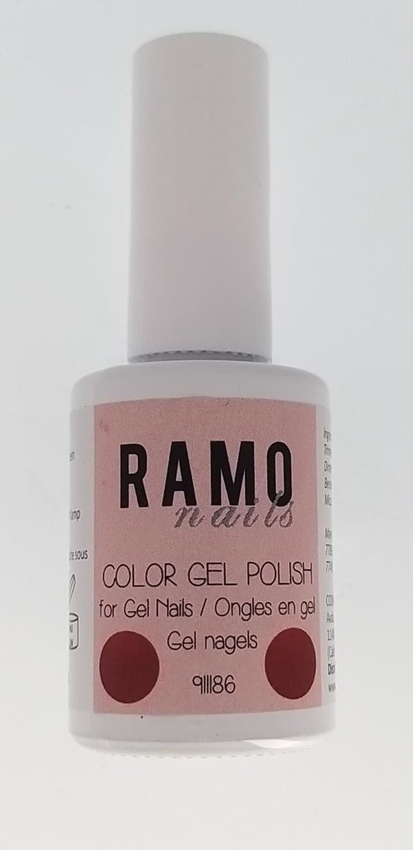 Ramo gelpolish 911186-gel nagellak-gelpolish-gellak-uv≤d-15ml-soak off-rood