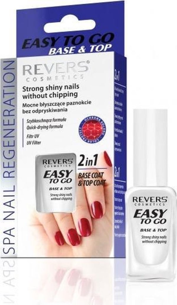 Revers Strong Shiney Nails Without Chipping 2in1 Top- Basecoat