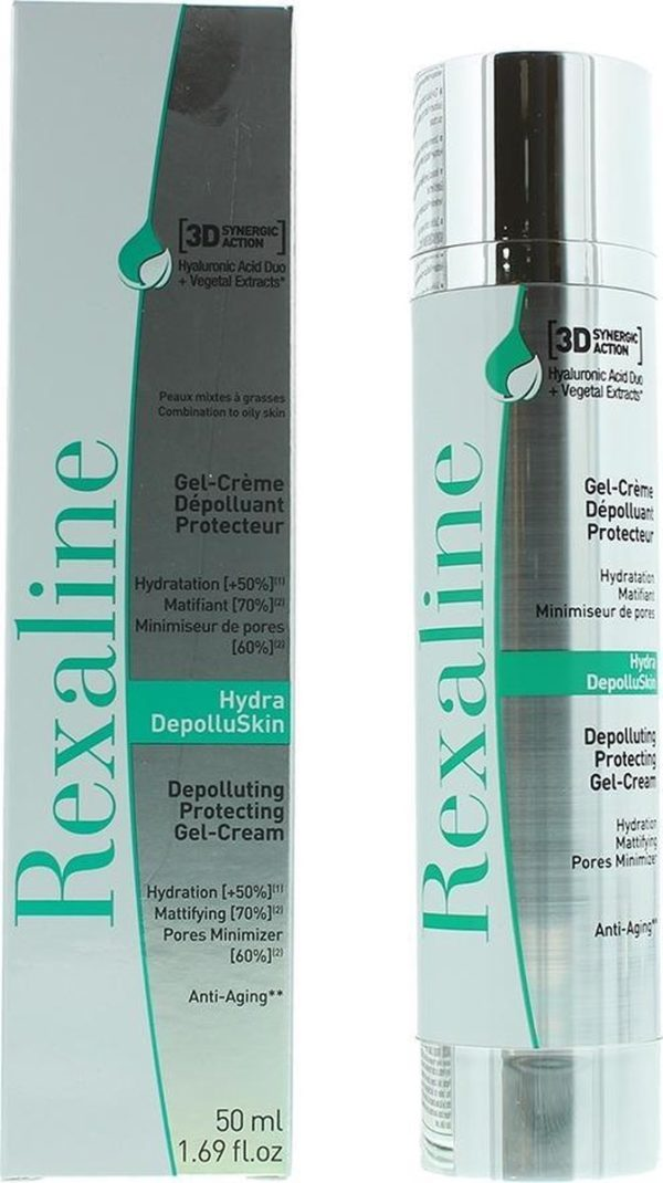 Rexaline 3D Hydra-DepolluSkin Depolluting Protecting Gel-Cream 50ml