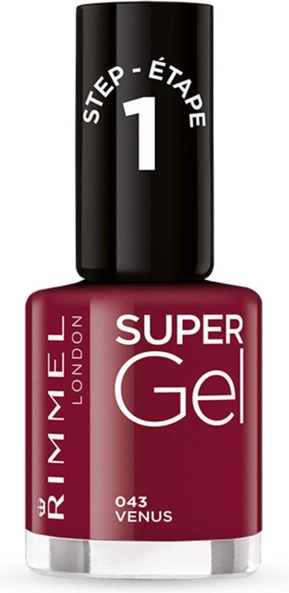 Rimmel London SuperGel Nagellak - 043 Venus - Rood