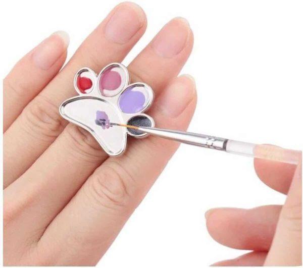 Ring palet voor nail art polish
