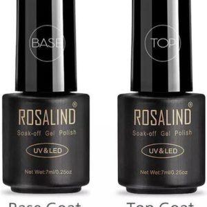 Rosalind - Base & Top coat nagellak set - Gel nagellak - UV gellak set - Topcoat - Basecoat
