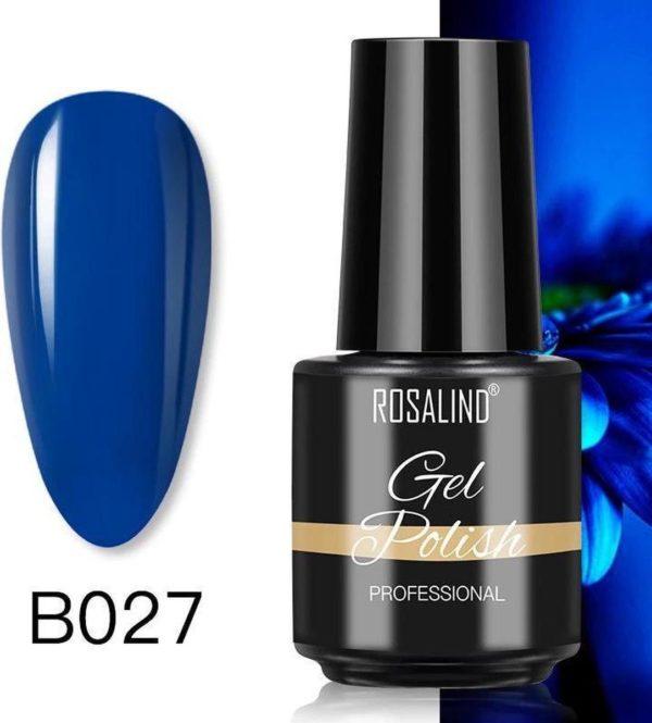 Rosalind Gelpolish - Gel nagellak - Gellak - UV & LED - Blauw B027 Dark Blue