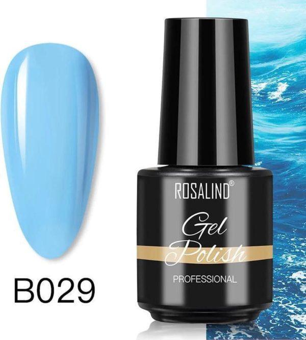 Rosalind Gelpolish - Gel nagellak - Gellak - UV & LED - Blauw B029 Wonderful Blue
