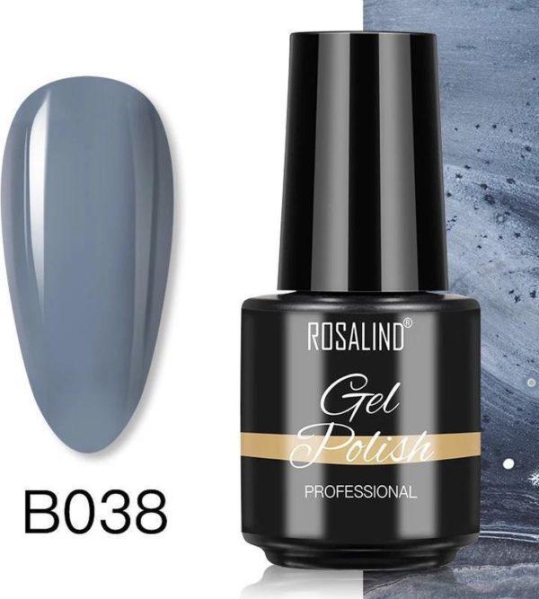 Rosalind Gelpolish - Gel nagellak - Gellak - UV & LED - Blauw B038 Cold Blue