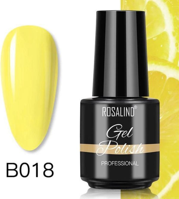 Rosalind Gelpolish - Gel nagellak - Gellak - UV & LED - Geel B018 Cream Yellow