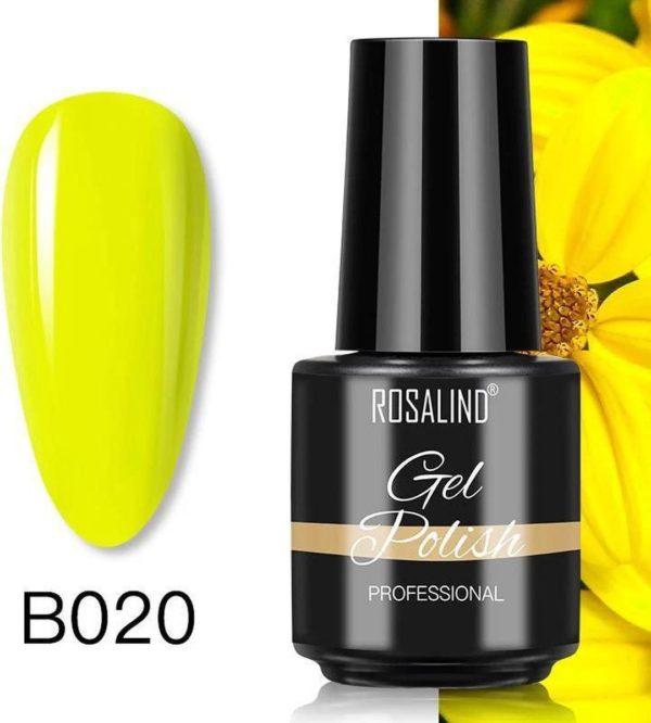 Rosalind Gelpolish - Gel nagellak - Gellak - UV & LED - Geel B020 Lemon Yellow
