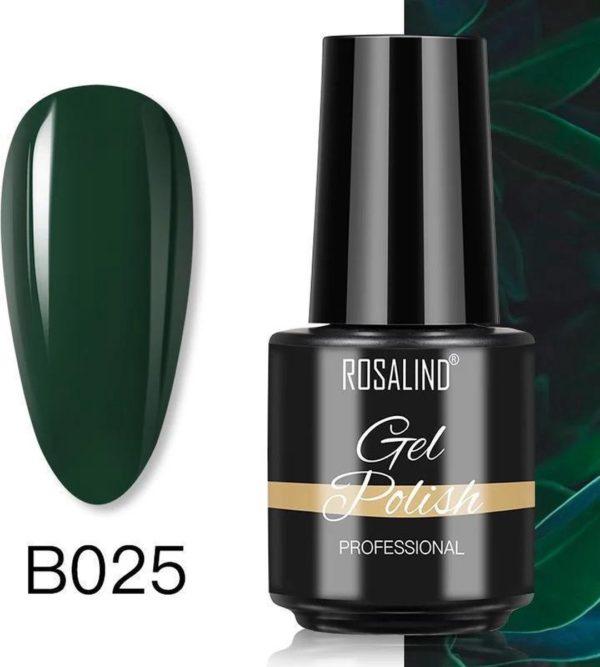 Rosalind Gelpolish - Gel nagellak - Gellak - UV & LED - Groen B025 Dark Green
