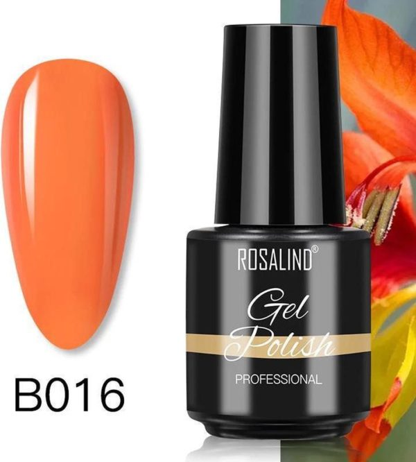 Rosalind Gelpolish - Gel nagellak - Gellak - UV & LED - Oranje B016 Tiger Orange