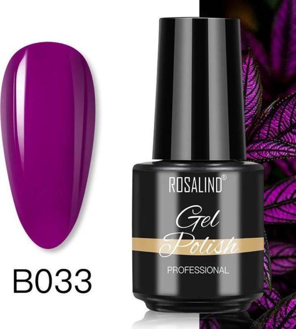 Rosalind Gelpolish - Gel nagellak - Gellak - UV & LED - Paars B033 Strong Violet