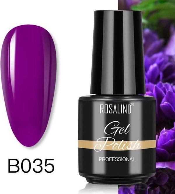 Rosalind Gelpolish - Gel nagellak - Gellak - UV & LED - Paars B035 Noble Violet