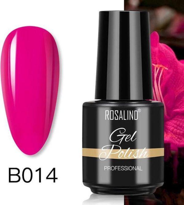 Rosalind Gelpolish - Gel nagellak - Gellak - UV & LED - Roze B014 Neon Rose Pink