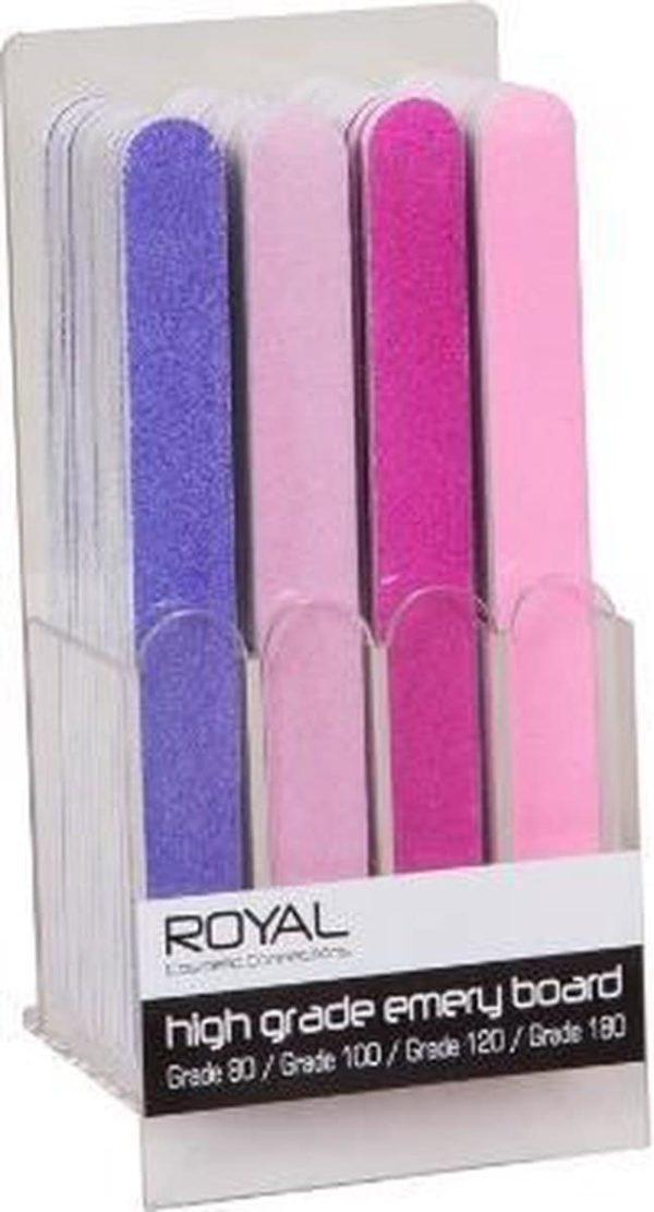 Royal functionality tweezijdige nagelvijl rose of paars.