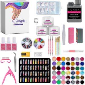 Royala Acryl Nagels Starters Pakket - 120 Delig / 90 Kleuren / 500 Nageltips - Nail Art - Acryl Poeder - Complete Nepnagel Set