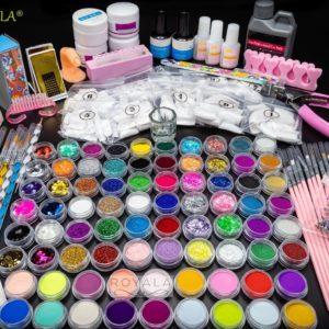 Royala - XL Acrylnagels Pro Pakket | 123 delig | Acryl Nagels set | Acryl Starter Kit | Nail Art Pakket | 500 Franse Nageltips | Manicure Set voor Nail Art Kit | Nagel Decoratie | Topcoat _ Basecoat _ UV Gel