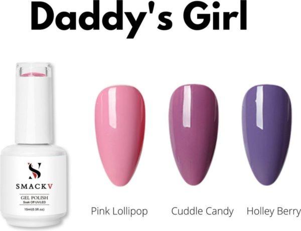 SMACKV® UV/LED Gellak Daddy's Girl Trio Pack- 3 kleuren Gelpolish 15ml- Big Size Gel nagellak - Shellac