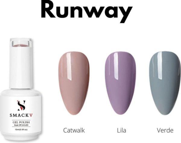 SMACKV® UV/LED Gellak Runway Pack- 3 Trendy kleuren Gelpolish 15ml- Big Size Gel nagellak - Shellac