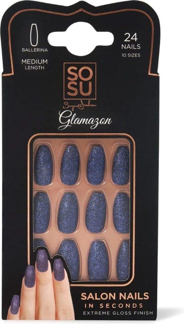 SOSU by SJ False Nails Glamazon - Press on nails - Plaknagels - Nepnagels - 24 stuks - Beste Kwaliteit