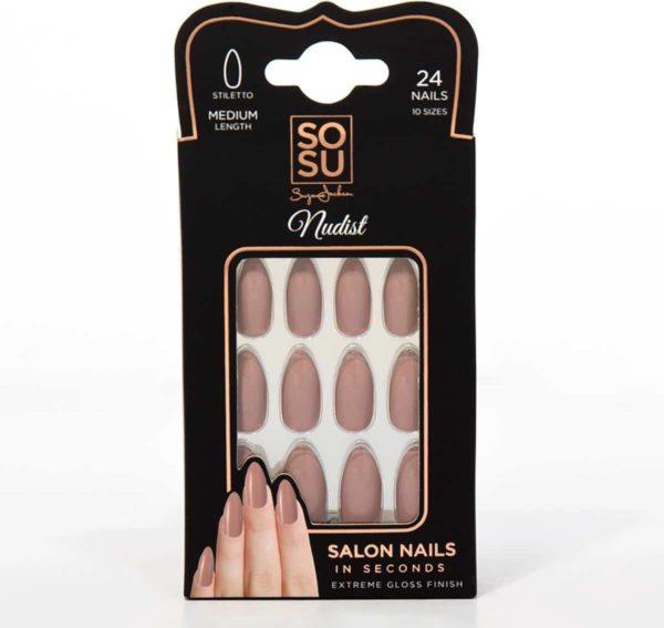 SOSU by SJ False Nails Nudist - Press on nails - Plaknagels - Nepnagels - 24 stuks - Beste Kwaliteit