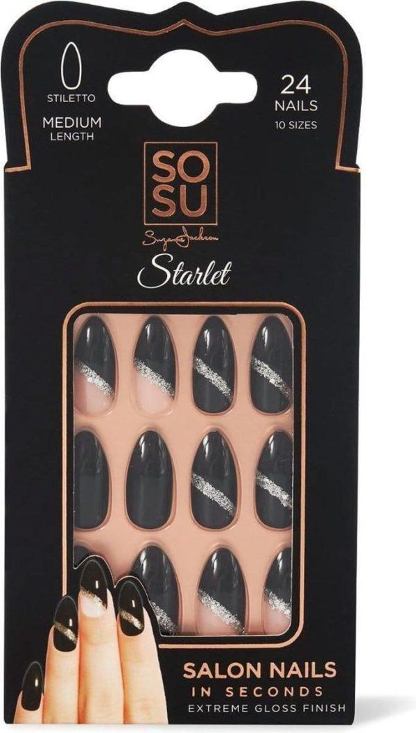 SOSU by SJ False Nails Starlet - Press on nails - Plaknagels - Nepnagels - 24 stuks - Beste Kwaliteit