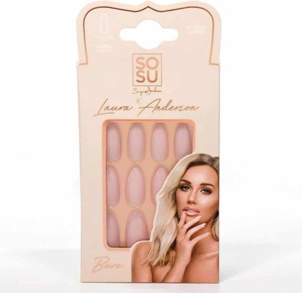 SOSU by SJ Laura Anderson False Nails Bare - Press on nails - Plaknagels - Nepnagels - 24 stuks - Beste Kwaliteit
