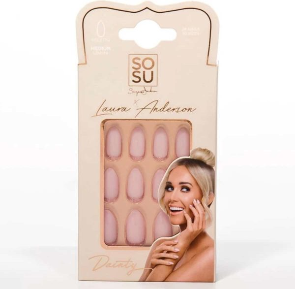 SOSU by SJ Laura Anderson False Nails Dainty - Press on nails - Plaknagels - Nepnagels - 24 stuks - Beste Kwaliteit