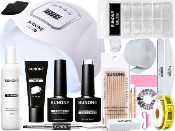 SUNONE Polygel & Acrylgel Start Set - Inclusief Salon4 Nagellamp G02