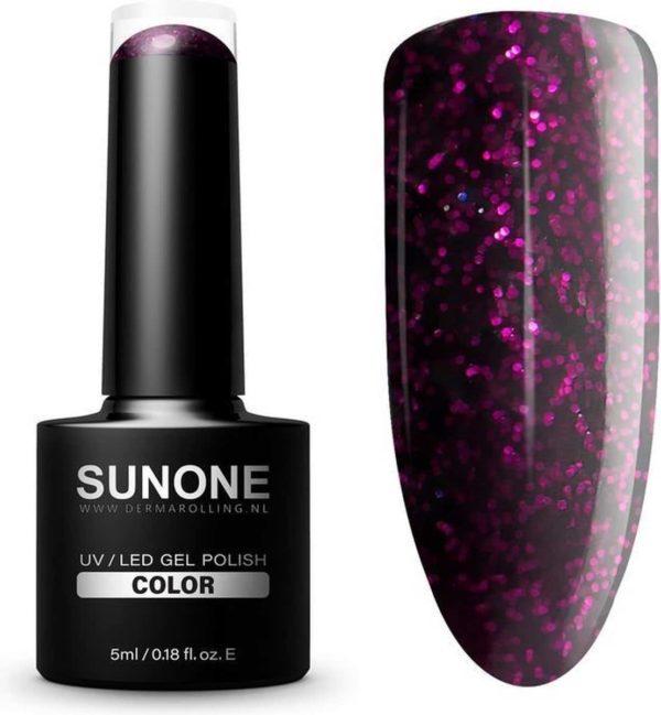 SUNONE UV/LED Hybride Gellak Glitter Bordeaux - M08 Mia