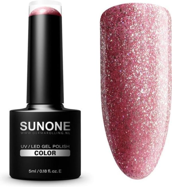 SUNONE UV/LED Hybride Gellak Glitter Roze - M07 Marlena