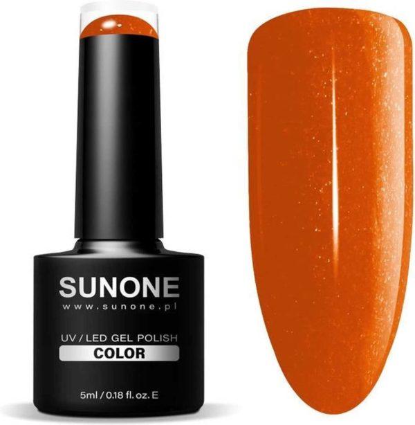 SUNONE UV/LED Hybride Oranje Glitter Gellak 5ml - M14 Miriam
