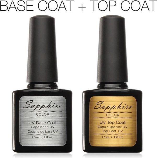Sapphire Premium Top Coat & Base Coat - Gel Nagellak - UV Gellak Set