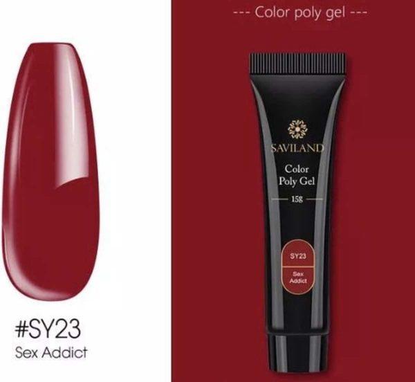 Saviland - Acrylgel - Polygel - Kleur Sex Addict - Nail Art