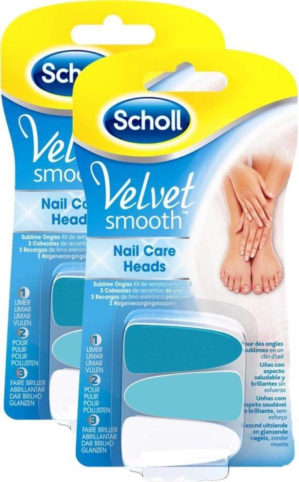 Scholl Velvet Smooth Elektrisch Nagelvijl Navullingen - 2 sets - Grootverpakking