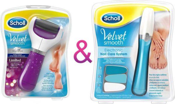 Scholl Velvet Smooth Elektronische pedi Diamond Voetvijl + Scholl Velvet Smooth Elektrisch Nagelvijl-Eeltverwijderaar-Scholl-Nagelverzorging-Nagelvijl- Scholl Velvet Smooth.