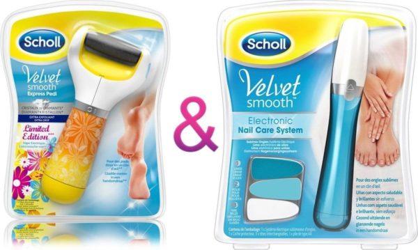 Scholl Velvet Smooth Elektronische pedi Diamond Voetvijl + Scholl Velvet Smooth Elektrisch Nagelvijl-Eeltverwijderaar-Scholl-Nagelverzorging - Scholl Velvet Smooth- Huidverzorging.