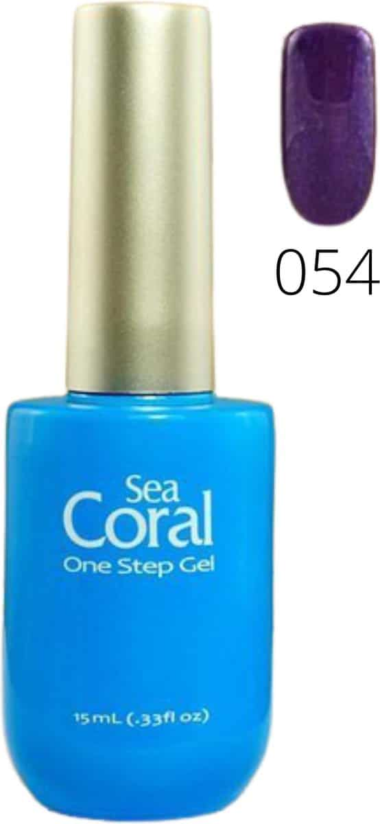 SeaCoral | No Wipe Gellak | Zonder Kleeflaag | Paars | Droogt met UV/LED lamp | 054