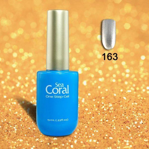 SeaCoral One Step No Wipe Gellak, Gel Nagellak, GelPolish, zónder kleeflaag, UV en LED, kleur 163