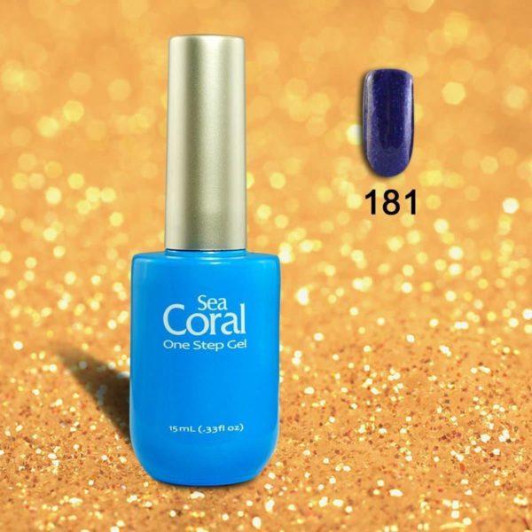 SeaCoral One Step No Wipe Gellak, Gel Nagellak, GelPolish, zónder kleeflaag, UV en LED, kleur 181