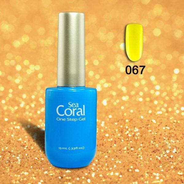 SeaCoral One Step No Wipe Gellak, Gel Nagellak, GelPolish, zonder kleeflaagUV en LED, kleur 067