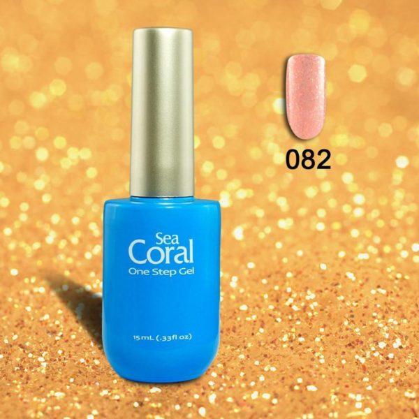 SeaCoral One Step No Wipe Gellak, Gel Nagellak, GelPolish, zónder kleeflaag,UV en LED, kleur 082