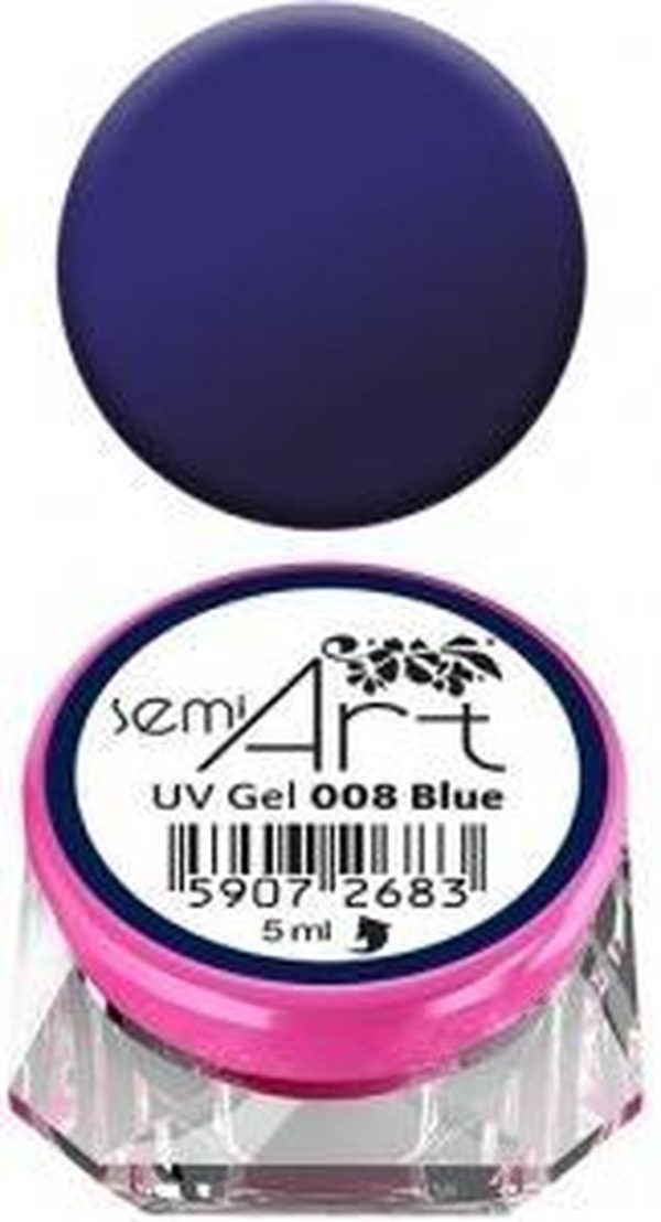 Semilac - Nail art - Art Gel - (design painting gel) - 008 BLAUW