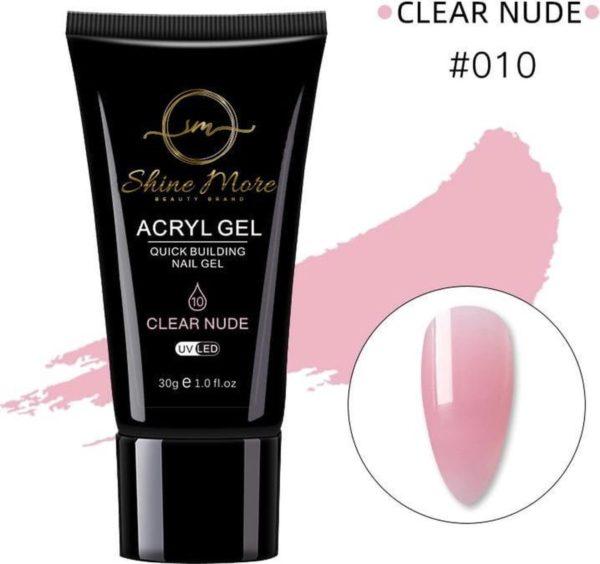 Shinemore Polygel Gel nagels 30 Gram Tube Clear Nude
