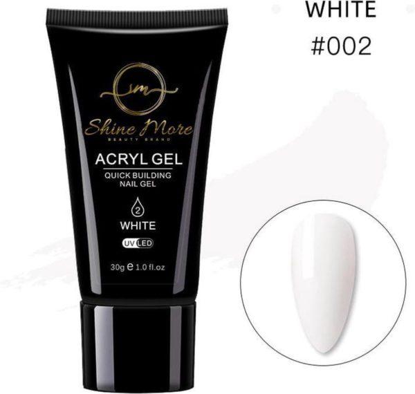 Shinemore Polygel Gel nagels 30 Gram Tube White