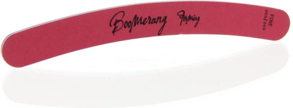 Sibel Nails Nagelvijlen Nagelvijl Boomerang Rood 200/240