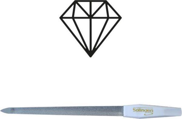 Solingen Professioneel Diamant Nagelvijl Curved 15CM (vijl voor nagels mannen en vrouwen) - Manicure & Pedicure