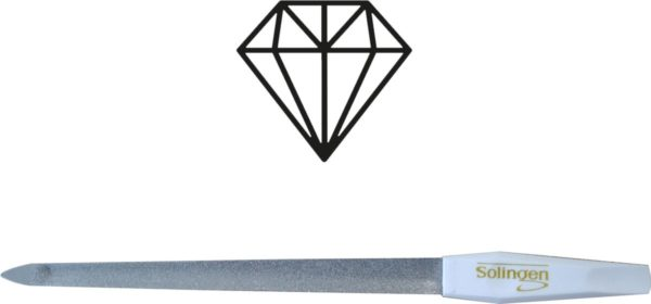 Solingen Professioneel Diamant Nagelvijl Curved 20CM (vijl voor nagels mannen en vrouwen) - Manicure & Pedicure