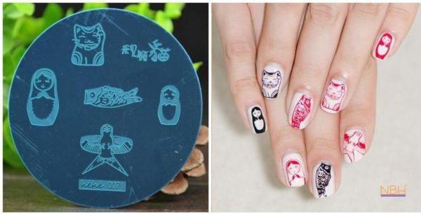Stamping Plate 007 / nagel stempel- sjabloon