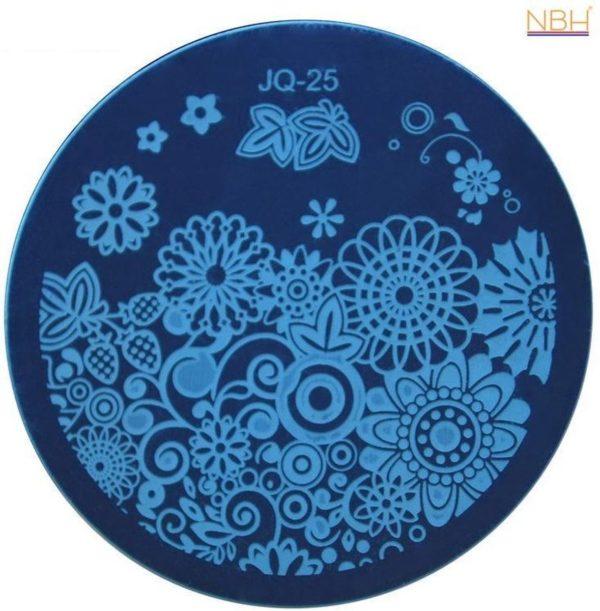 Stamping Plate 025 / nagel stempel- sjabloon